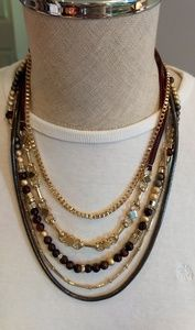 WHBM multi chain necklace
